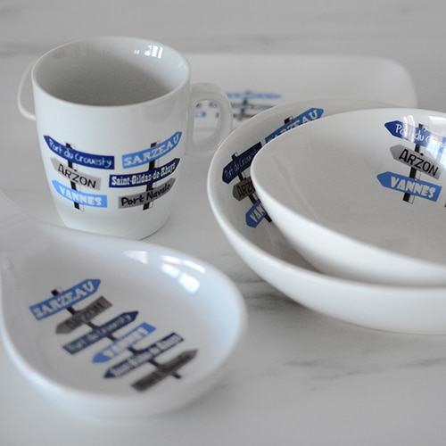 vaisselles en porcelaine personnalisées