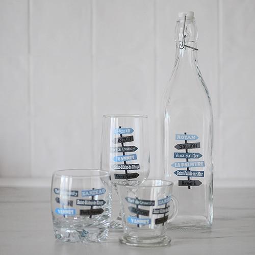 vaisselle en verre personnalisée